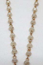 Beaucoup Designs White Beaded Necklace - Side cropped