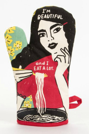 Blue Q Beautiful and Eat a lot Oven Mitt - Product Mini Image