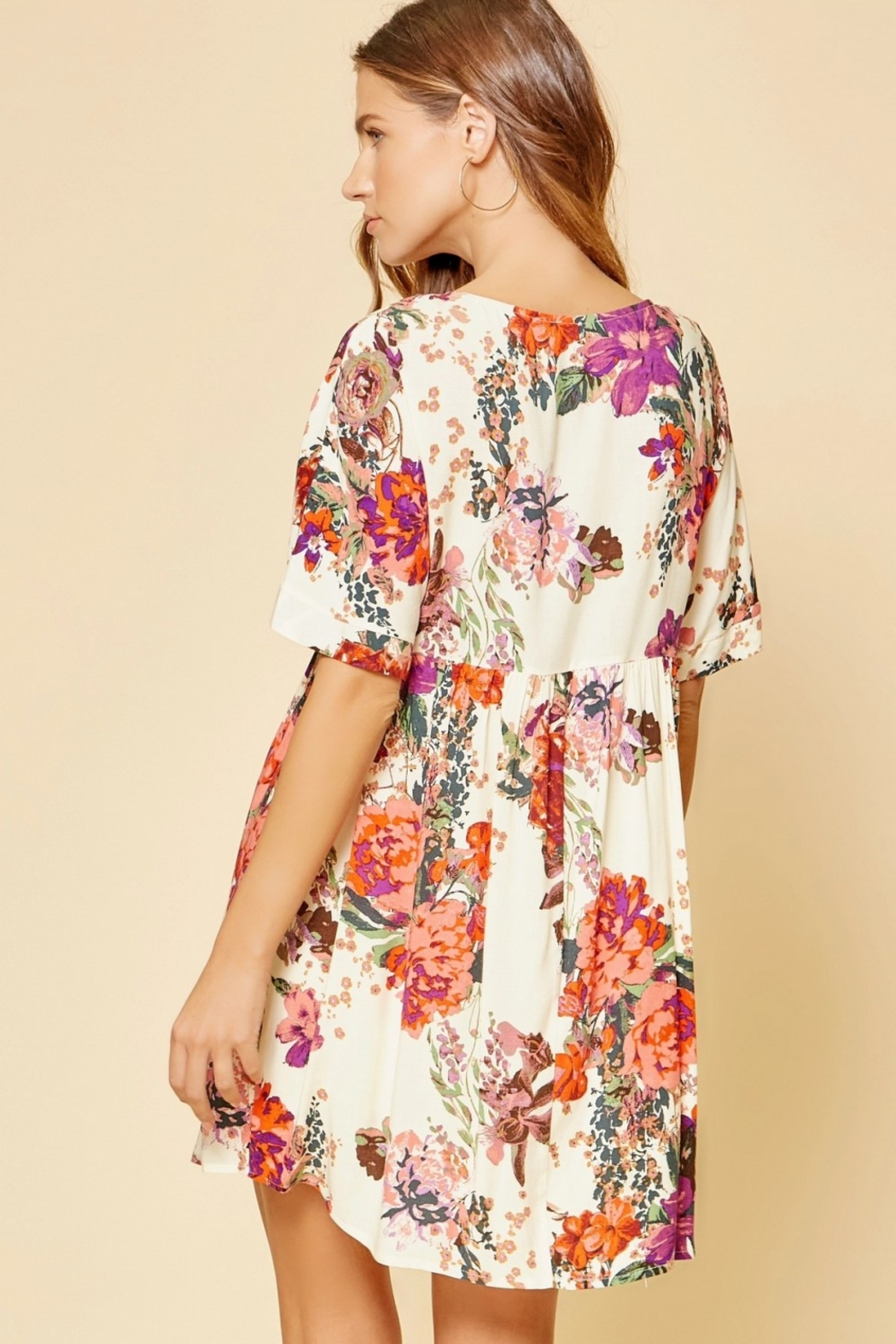 Andree by Unit Beautiful Babydoll Floral - Back Cropped Image