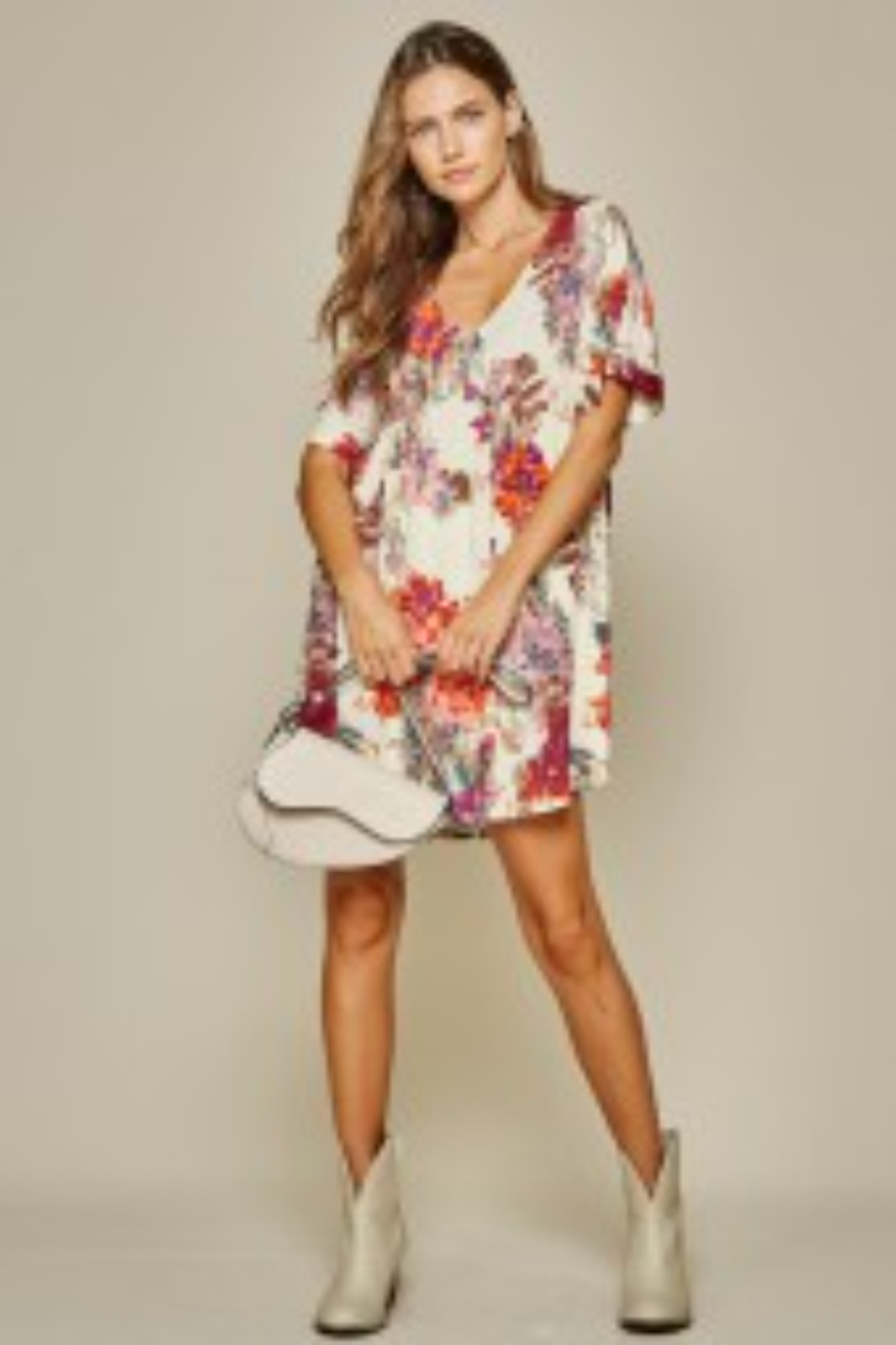 Andree by Unit Beautiful Babydoll Floral - Front Cropped Image