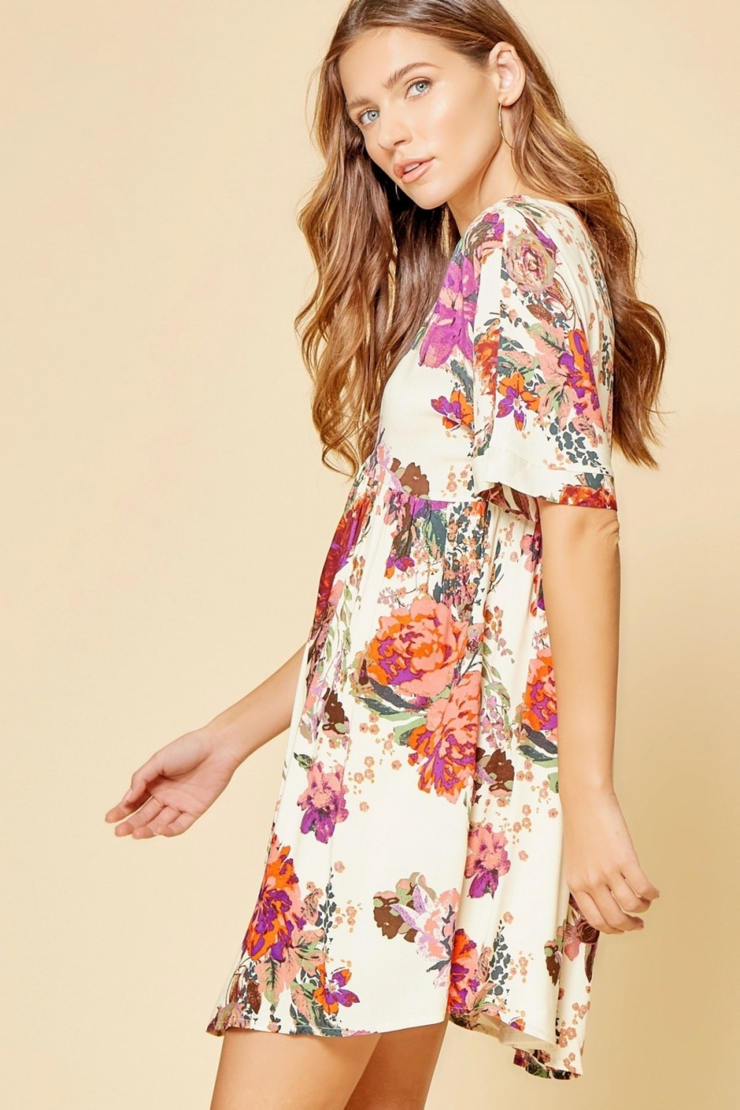 Andree by Unit Beautiful Babydoll Floral - Side Cropped Image