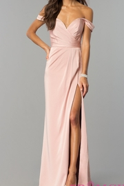 Faviana Beautiful Off-Shoulder Gown - Product Mini Image