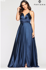 Faviana Beautiful Satin Gown - Front cropped