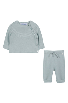 Shoptiques Product: Beautifully Sweet Cloud Blue Long Outfit