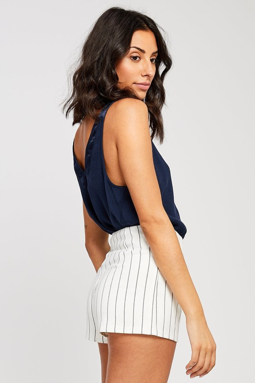 Gentle Fawn Beaux Satin Trim Tank - Side Cropped Image