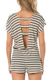 Becca Beach Striped Romper - Front full body