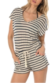 Becca Beach Striped Romper - Front cropped