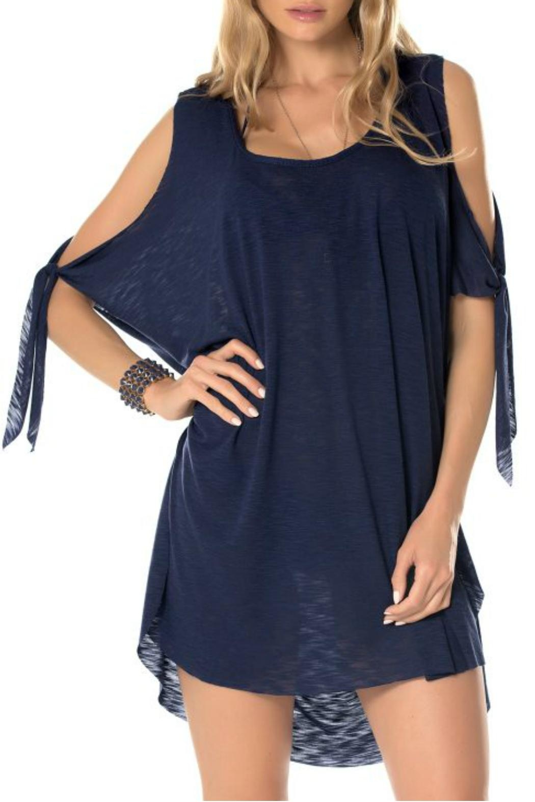 Becca Breezy Blue Coverup - Front Cropped Image