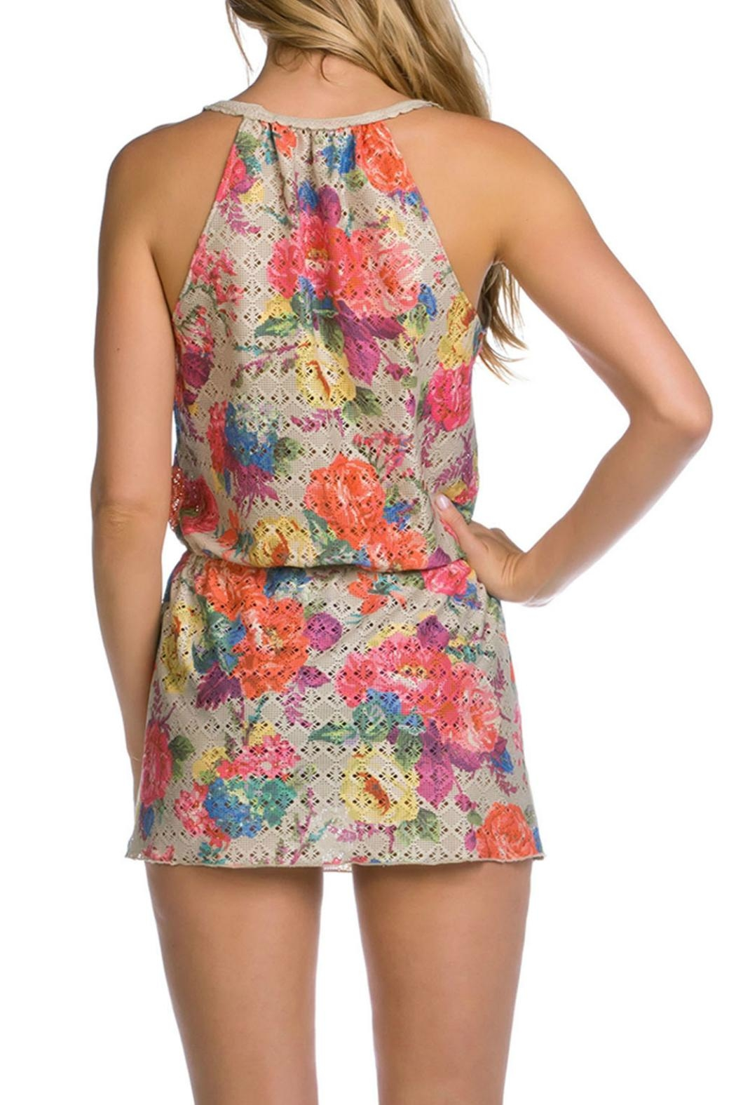 Becca Crochet Tank Dress - Front Full Image