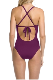 Becca Deep V One Piece - Front full body