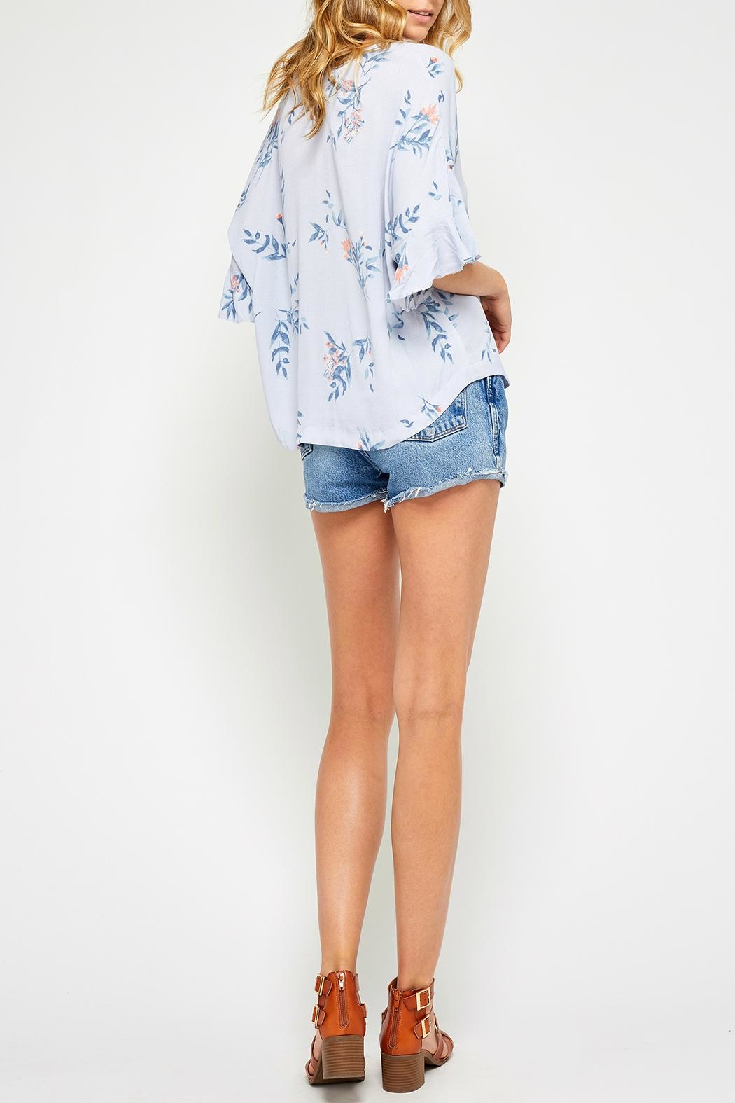 Gentle Fawn Ruffle Sleeve Top - Side Cropped Image