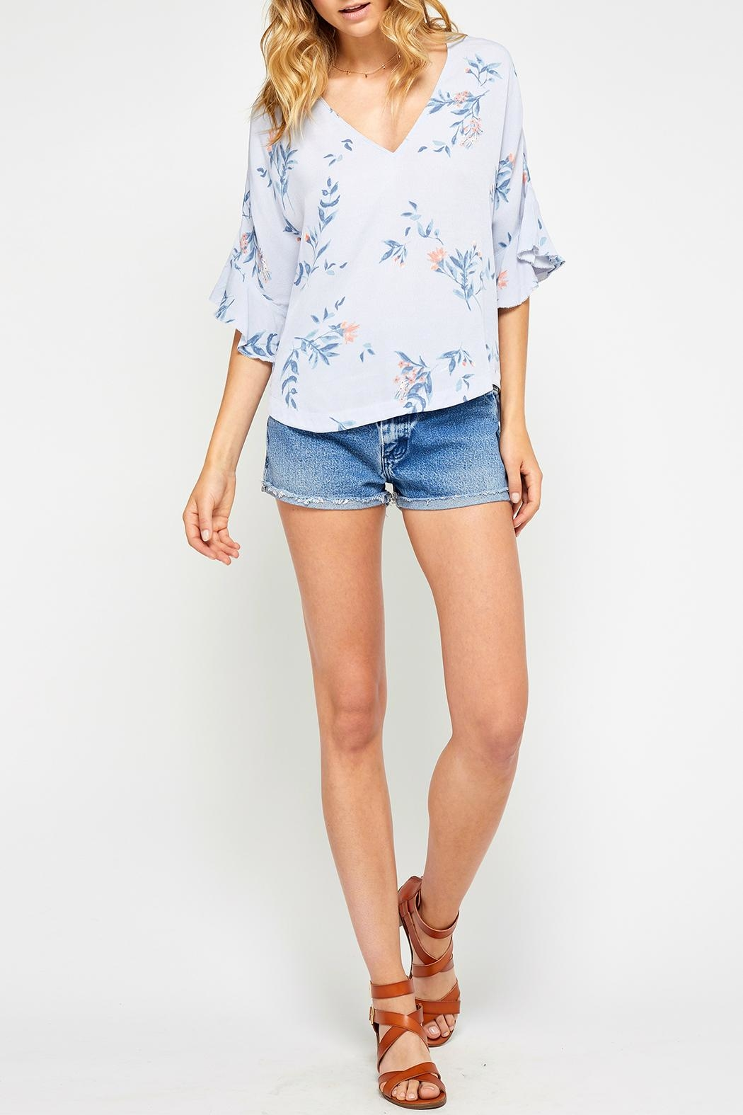 Gentle Fawn Ruffle Sleeve Top - Front Cropped Image