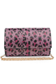 Urban Expressions Becky Leopard Crystal Clutch - Product Mini Image