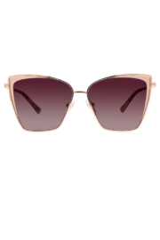 Diff Eyewear BECKY ROSE GOLD PLUM TORTISE W/WINE LENSE - Product Mini Image
