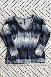 Kay Celine Becky Tie Dye V Neck Cozy Sweater - Product Mini Image