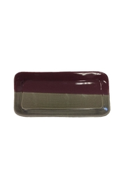 Becky Wright Pottery Two-Tone Ceramic Tray - Front cropped