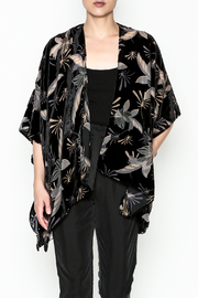 Bedford Basket Burnout Velvet Kimono - Product Mini Image