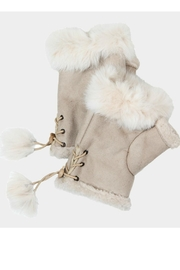 Bedford Basket Furry Fingerless Gloves - Front cropped