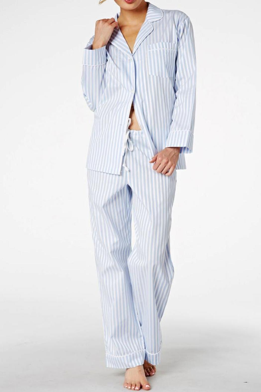 65d520b3 Bedhead Pajamas Blue Striped Pajamas from Massachusetts by Bloom ...