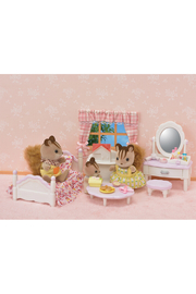Calico Critters Bedroom And Vanity Set - Front full body