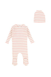 BEE AND DEE STRIPED STRETCHIE SET FOR INFANTS | BOY OR GIRL | PERFECT BABY SHOWER GIFT - Product Mini Image