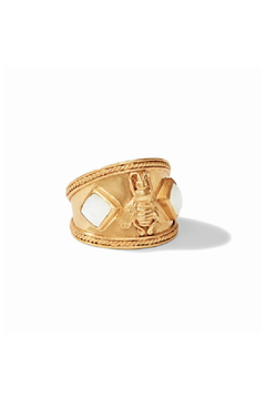 Julie Vos Bee Crest Ring Gold Mother of Pearl Size 7 - Product List Image