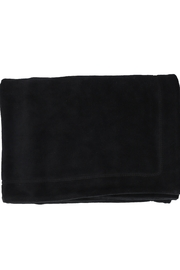 BEE AND DEE Bee & Dee Black Velour Collection Blanket - Product Mini Image