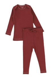 BEE AND DEE Bee & Dee Classic Rib Rust Red Loungewear | Pajamas - Product Mini Image
