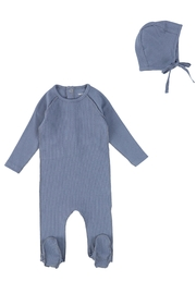BEE AND DEE Bee & Dee Classic Ribbed Collection Footie with Bonnet - Product Mini Image