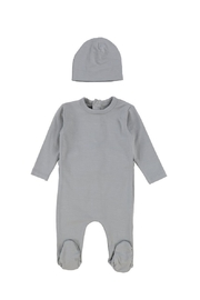 Bee & Dee BEE & DEE GREY MODAL FOOTIE AND BEANIE - Front cropped