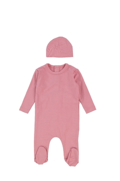 Shoptiques Product: BEE & DEE GREY MODAL FOOTIE AND BEANIE