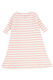 BEE AND DEE Bee & Dee Ivory/Pink Striped Ribbed Nightgown - Product Mini Image