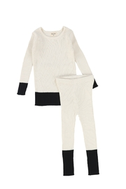 BEE AND DEE Bee & Dee Knit Color block 2pc Outfit - Product Mini Image