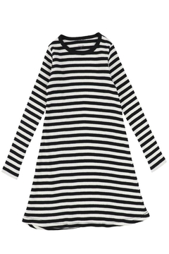 Shoptiques Product: Bee & Dee Stripped Ribbed Collection Nightgown | Maxi Dress