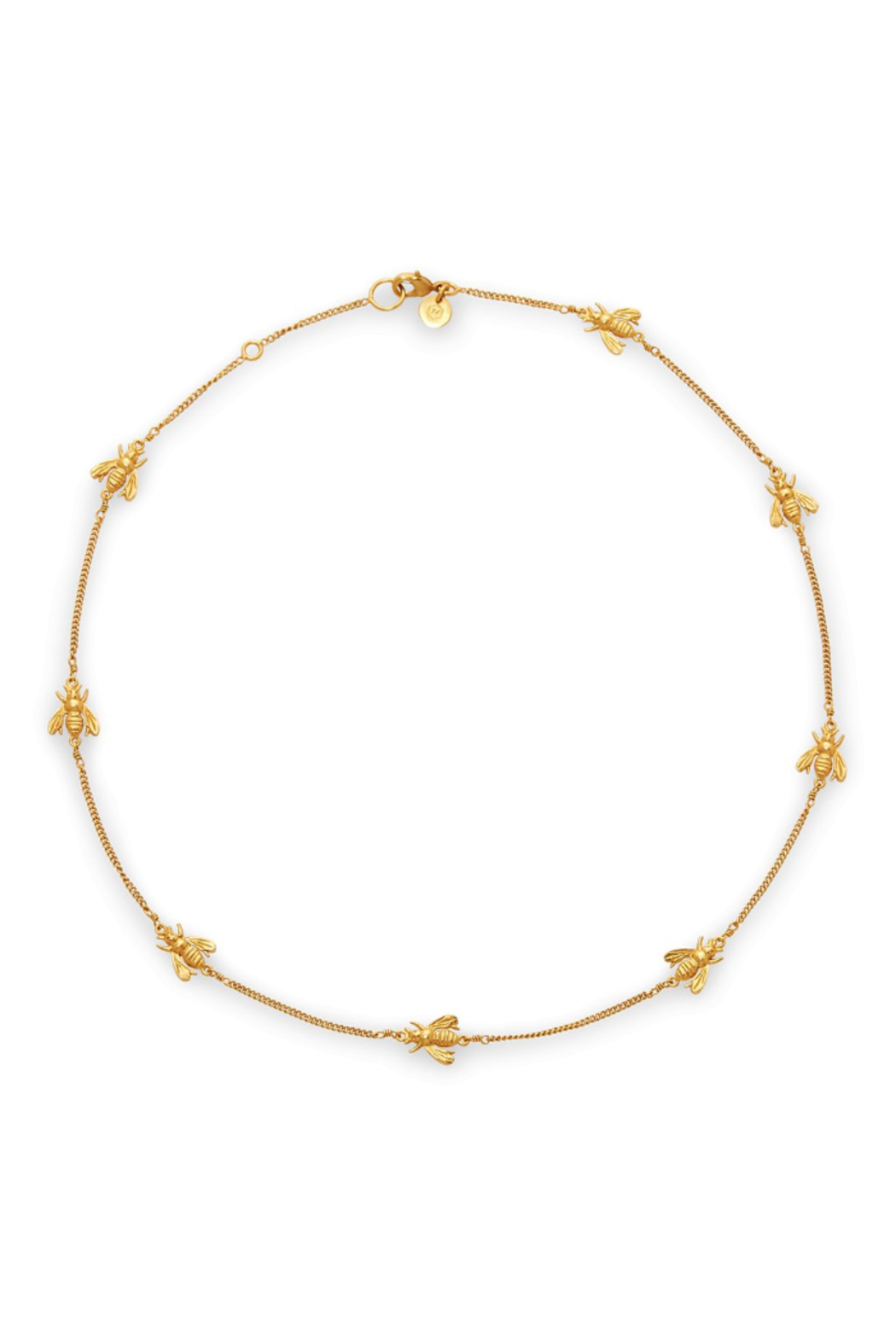 The Birds Nest Bee Delicate Necklace-Gold - Front Cropped Image