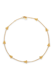 The Birds Nest Bee Delicate Necklace-Gold - Front cropped