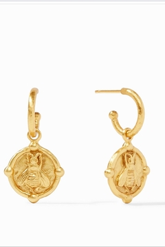 Julie Vos Bee Hoop and Charm Earrings - Product List Image