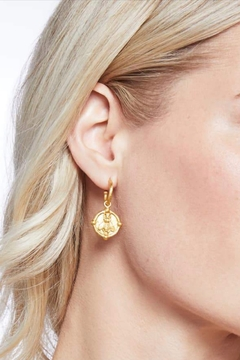Julie Vos Bee Hoop and Charm Earrings - Alternate List Image