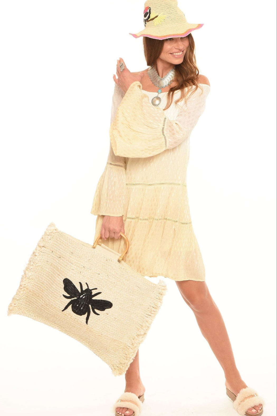 Muche et Muchette Bee Oversized Tote - Front Full Image