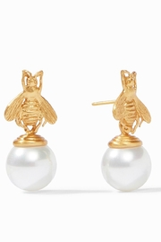 Julie Vos Bee Pearl Drop Earrings - Front cropped