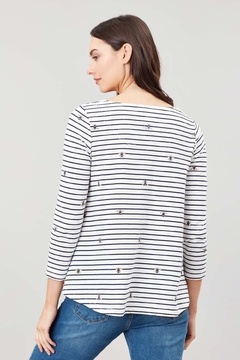 Joules Bee Stripe Swing Top - Alternate List Image