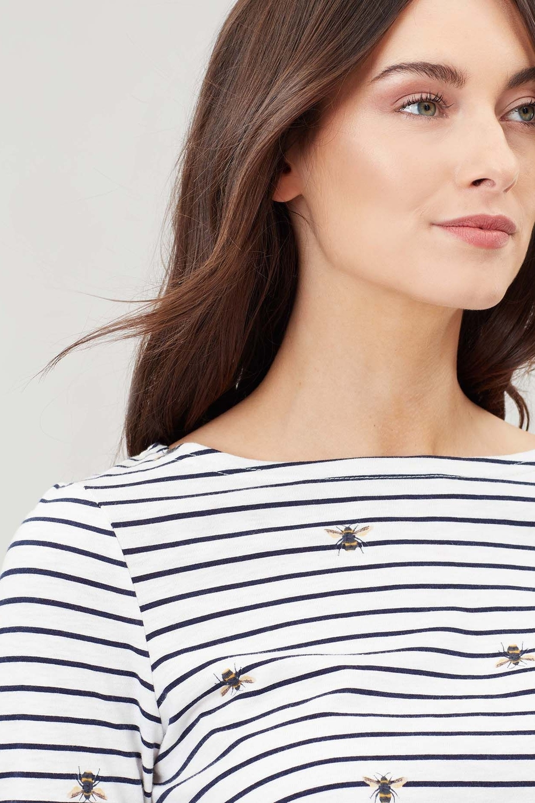 Joules Bee Stripe Swing Top - Side Cropped Image