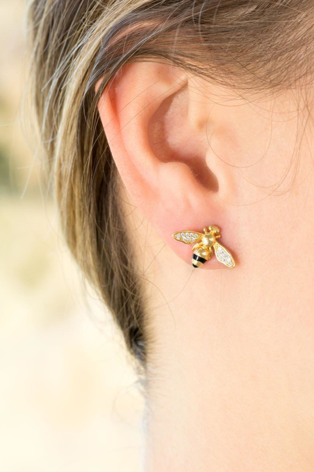 M Concept Shop Bee Stud Earrings - Side Cropped Image