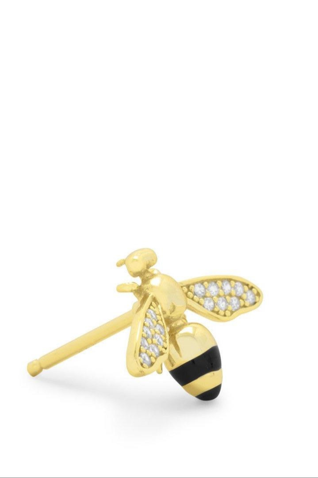 M Concept Shop Bee Stud Earrings - Front Full Image