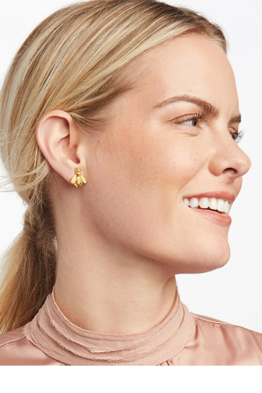 Julie Vos Bee Stud Pierced Earrings - Front Full Image