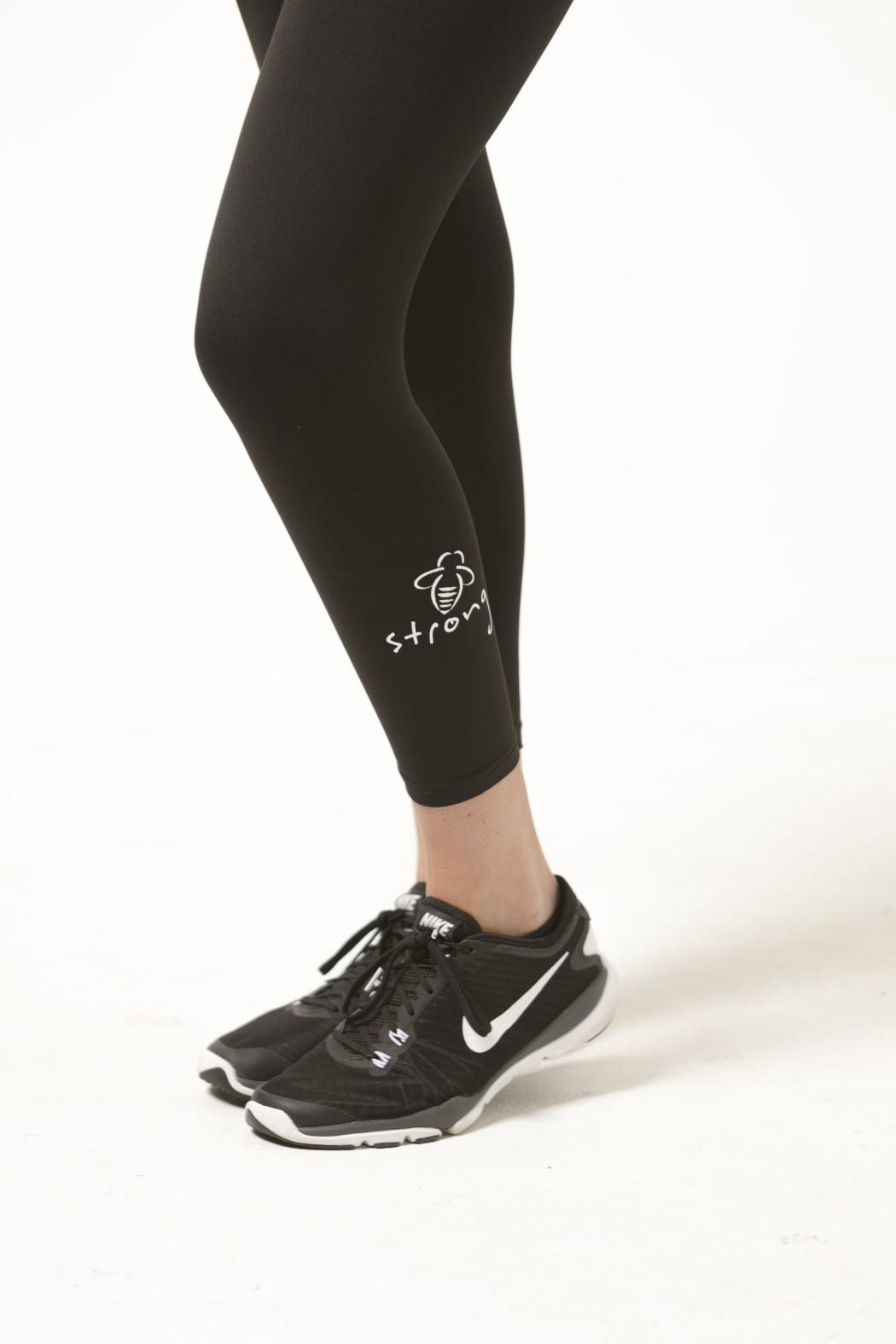 Bee Attitudes Bee Strong Leggings - Front Full Image