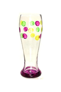 Mardi Gras Collection Beer Glass Dots - Alternate List Image