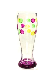 Mardi Gras Collection Beer Glass Dots - Product Mini Image