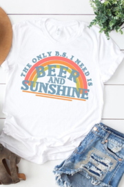 kissed Apparel Beer & Sunshine graphic tee - Product Mini Image
