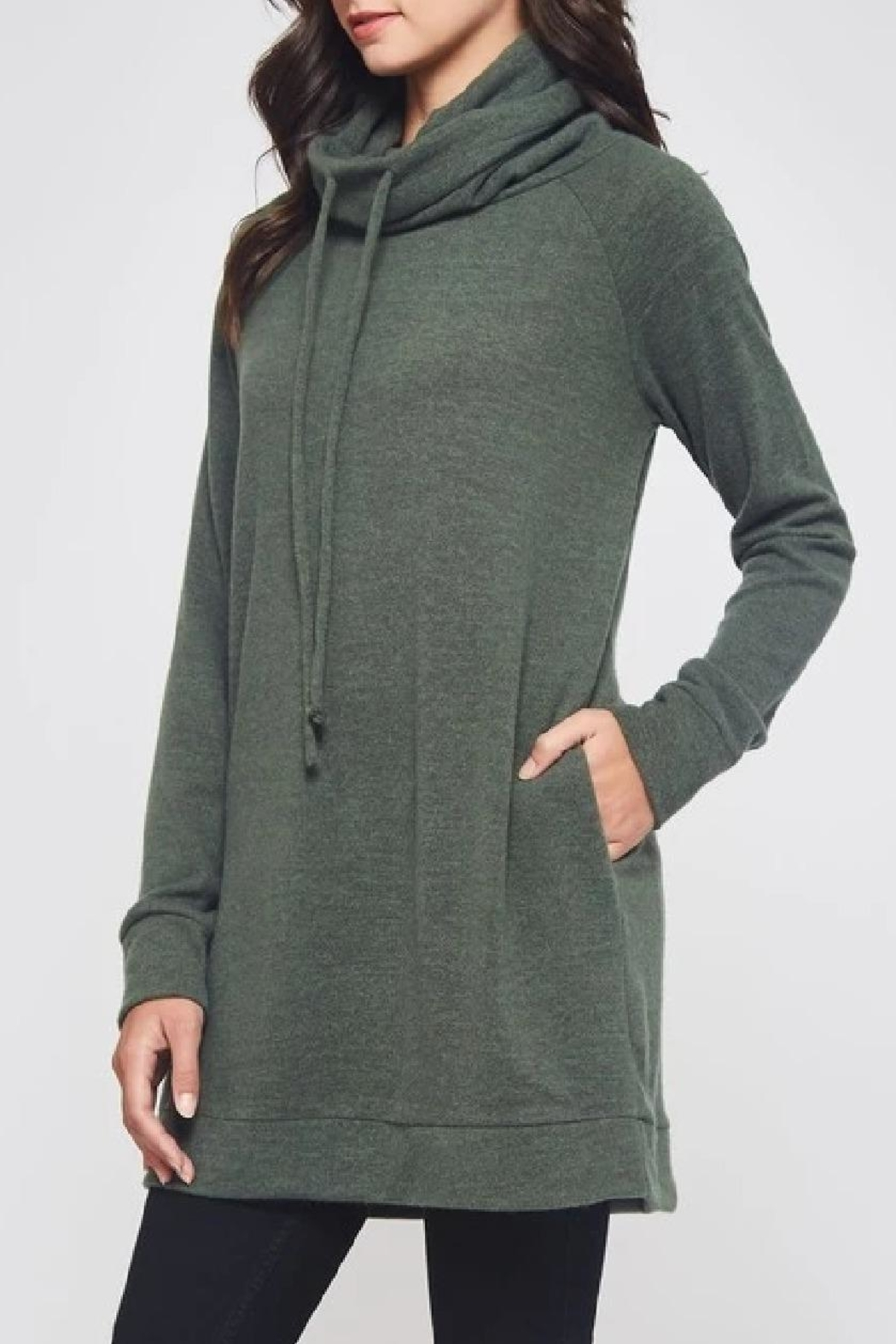 Beeson River Cowl Tunic-Pocket Top - Front Full Image